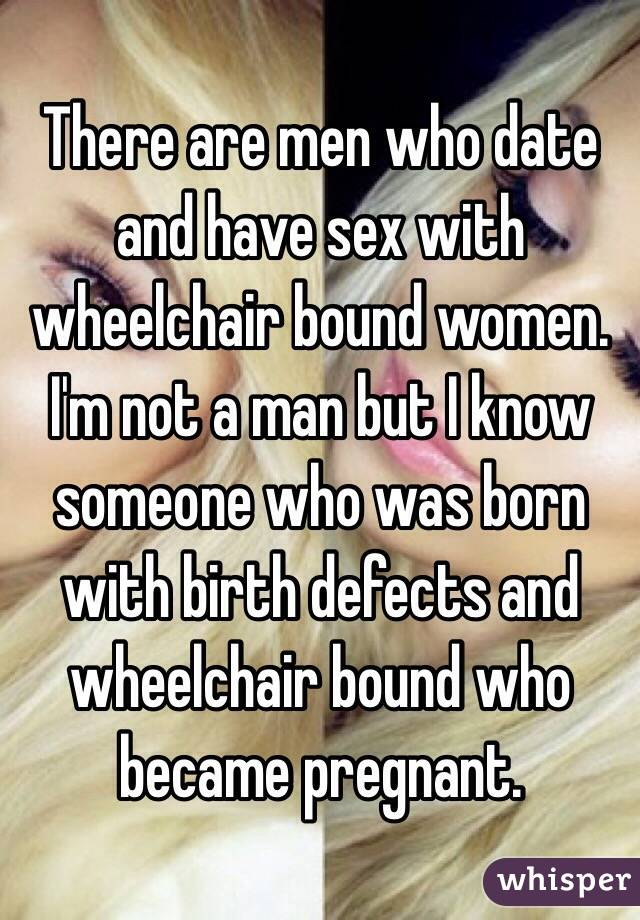 Can men in wheelchairs have sex