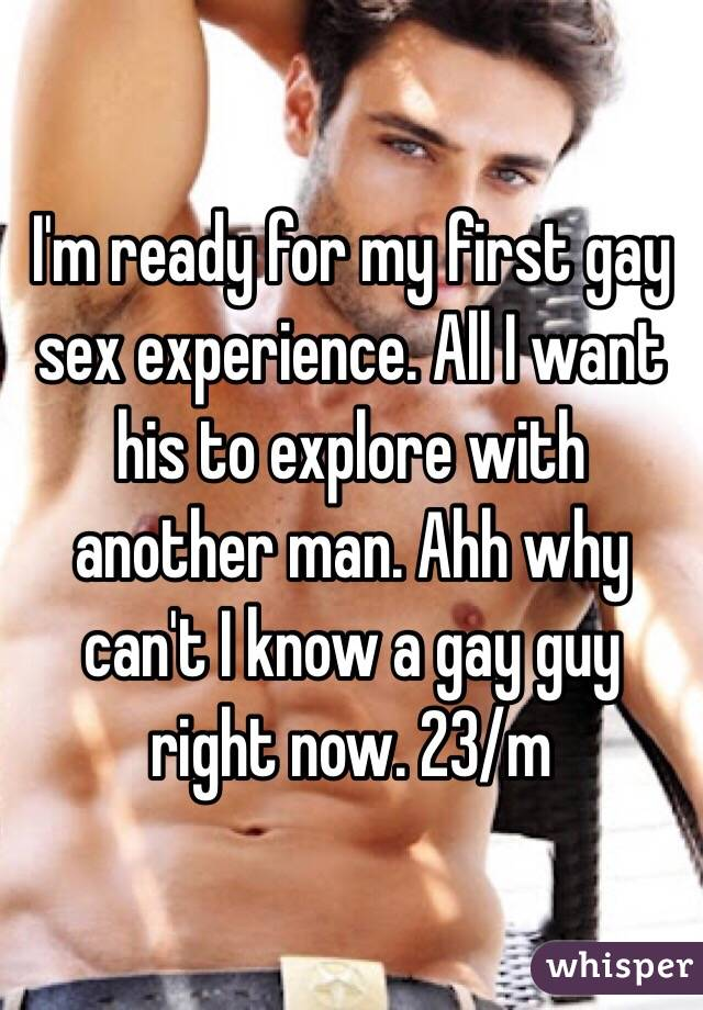 His first gay sex experience