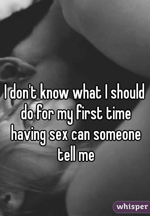 First time someone has sex