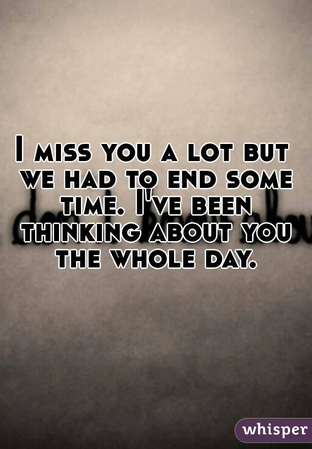 missing you is all that i been thinking of