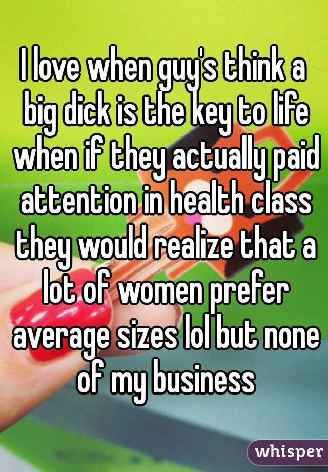 Life with a big dick