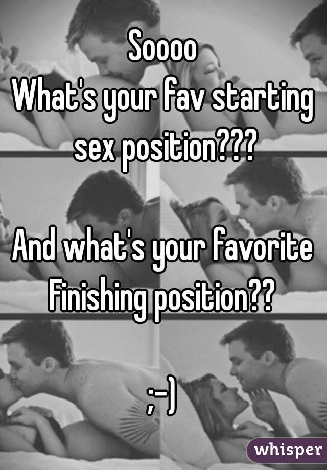 What is your favorite sex