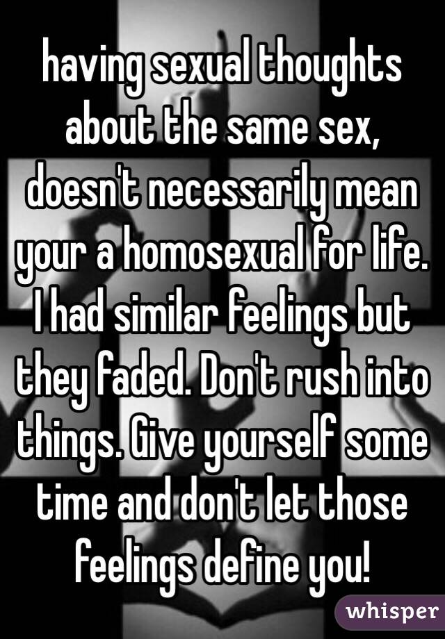 Sexual thoughts about same sex