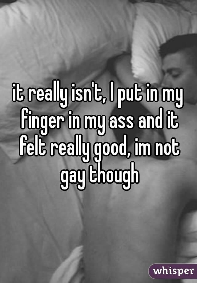 Finger in ass gay