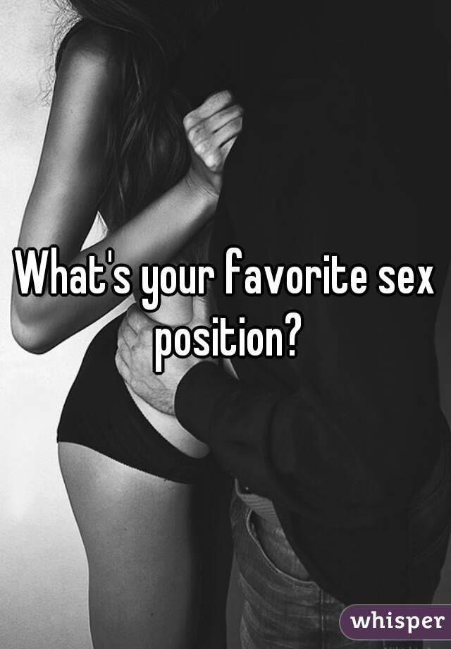What is your favourite sexual position