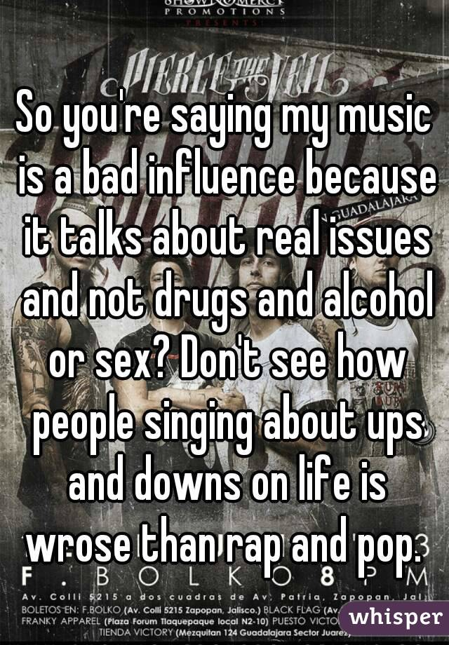 why rap music is bad influence