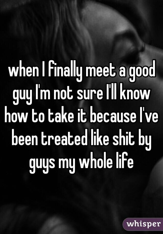 How to meet a good guy