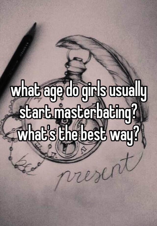 what age do you start masterbating