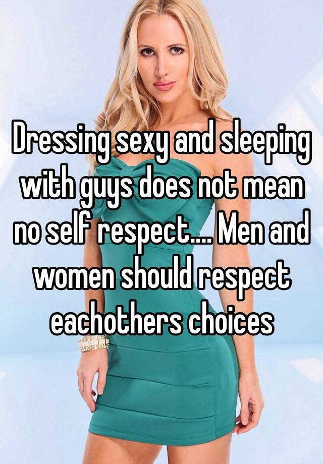 what does it mean to respect a man