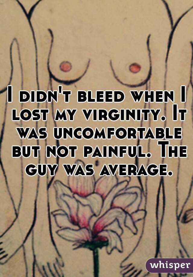 Assured, that not bleed lose virginity useful topic