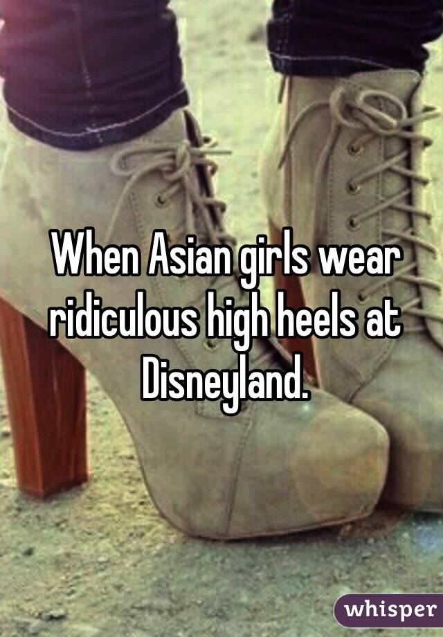71cd3092164a When Asian girls wear ridiculous high heels at Disneyland.