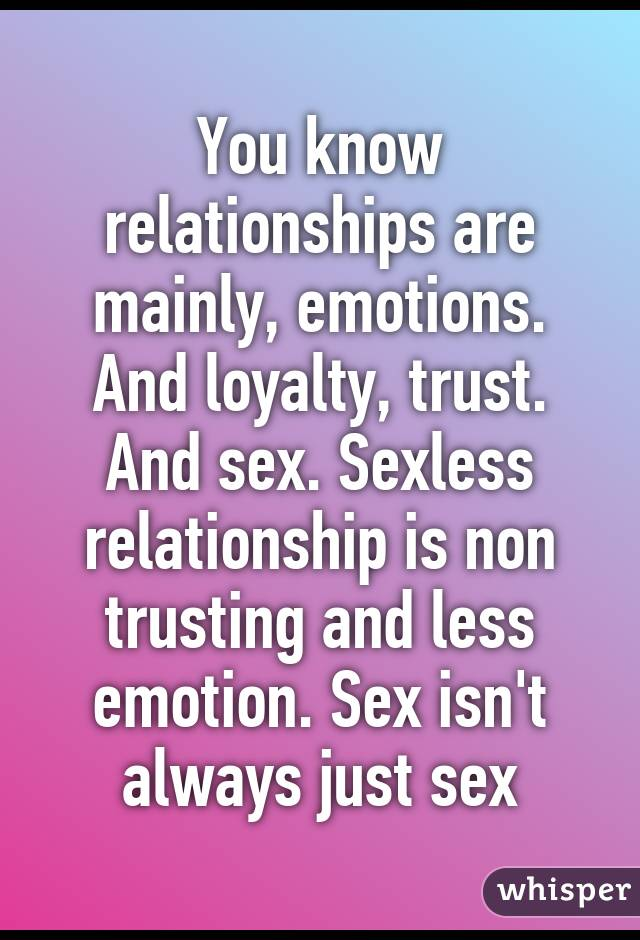 What is a sexless relationship