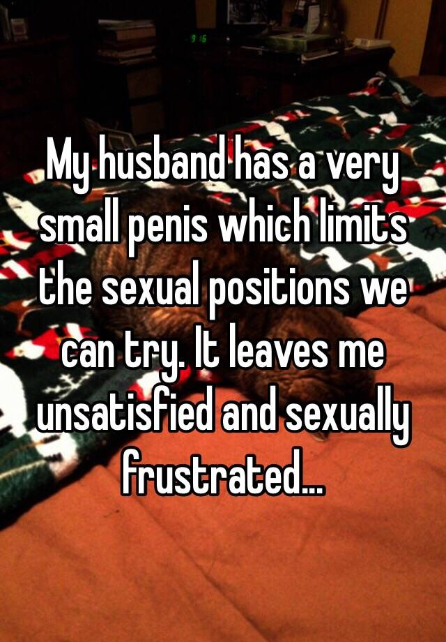 husband small penis