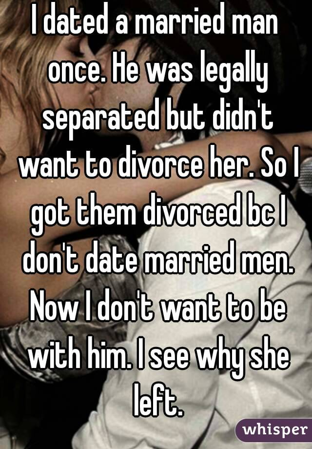 Dating A Married Man Who Is Getting Divorced