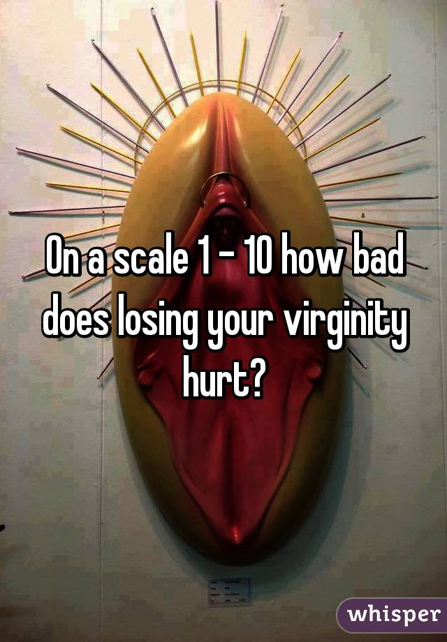 Virginity your painful loosing is