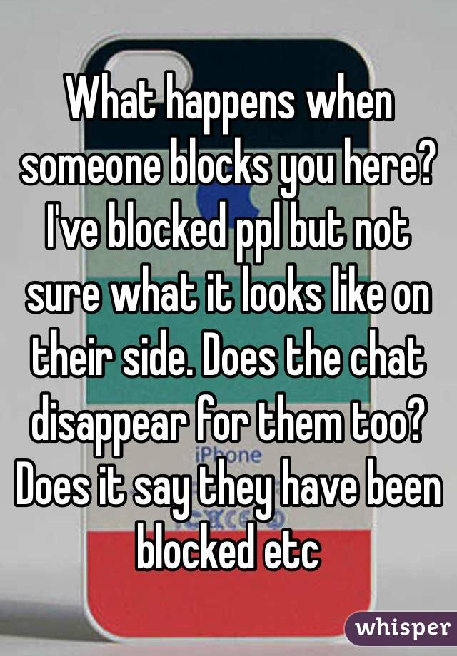 when someone blocks you