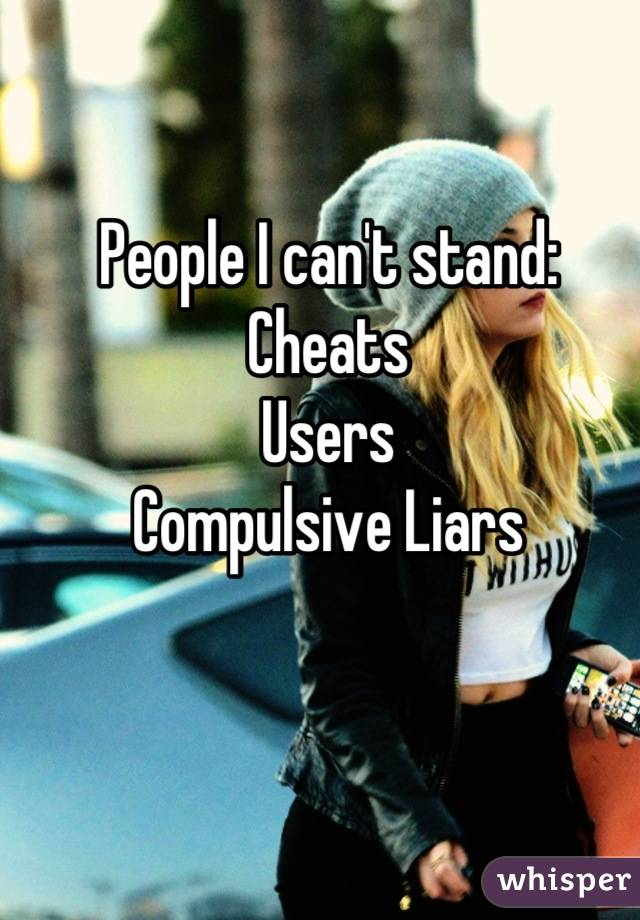 Compulsive liars and cheating