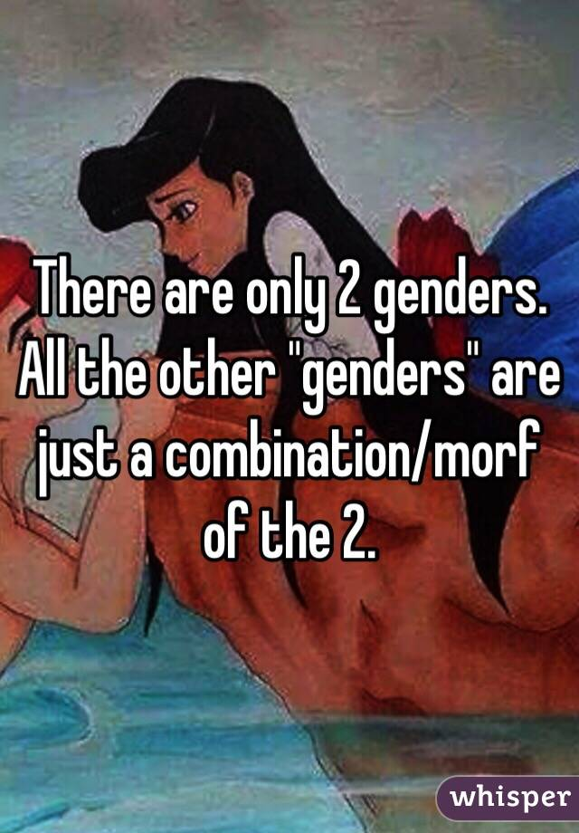 there are only 2 genders all the other genders are just a