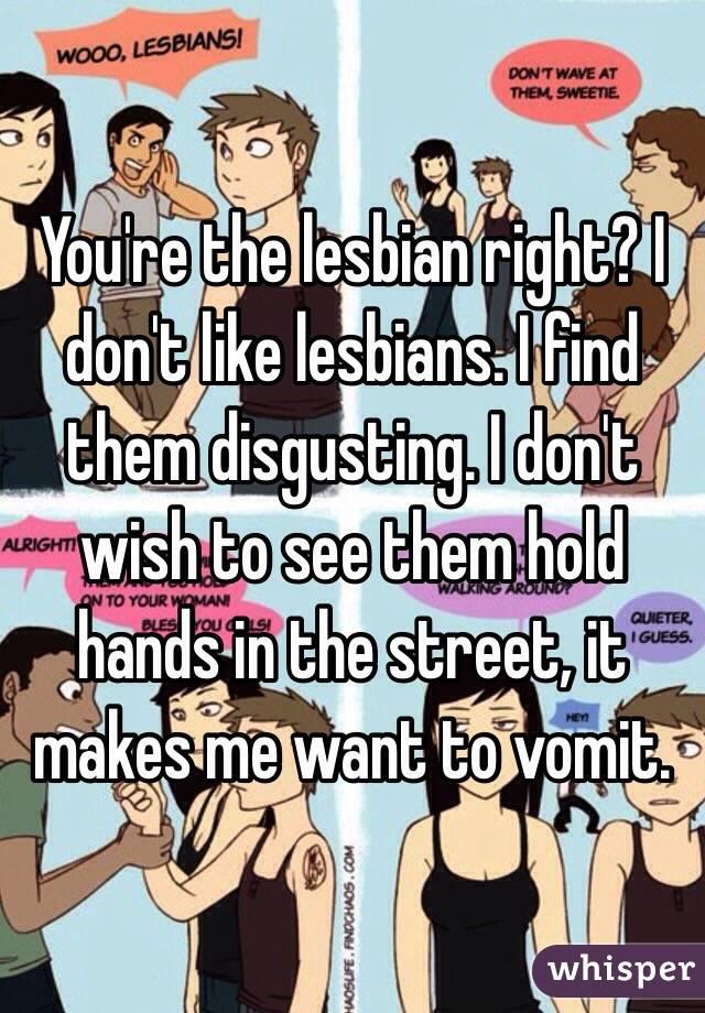 Lesbian vomit