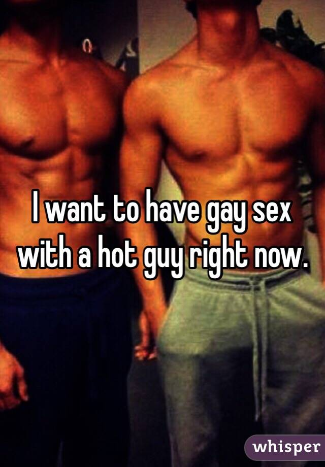 i want to fuck a gay guy