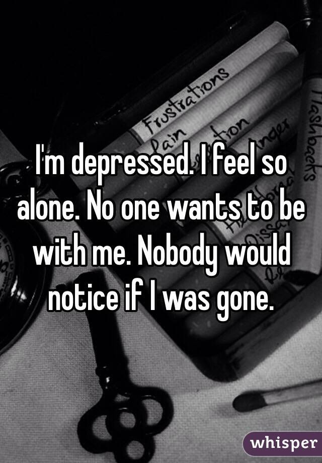 why am i depressed when i m alone