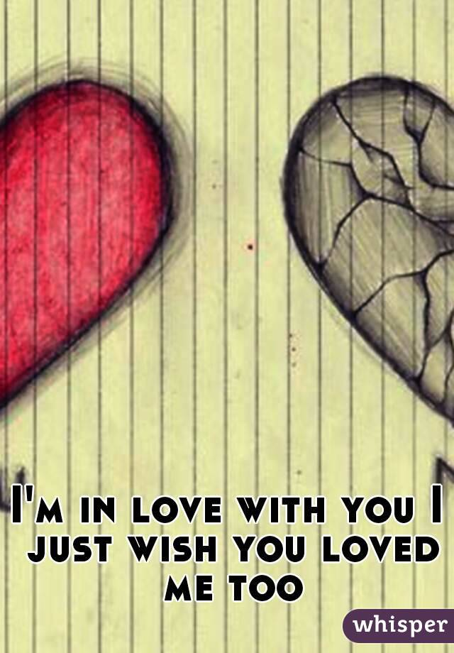 I'm in love with you I just wish you loved me too
