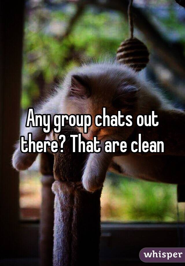 Any group chats out there? That are clean