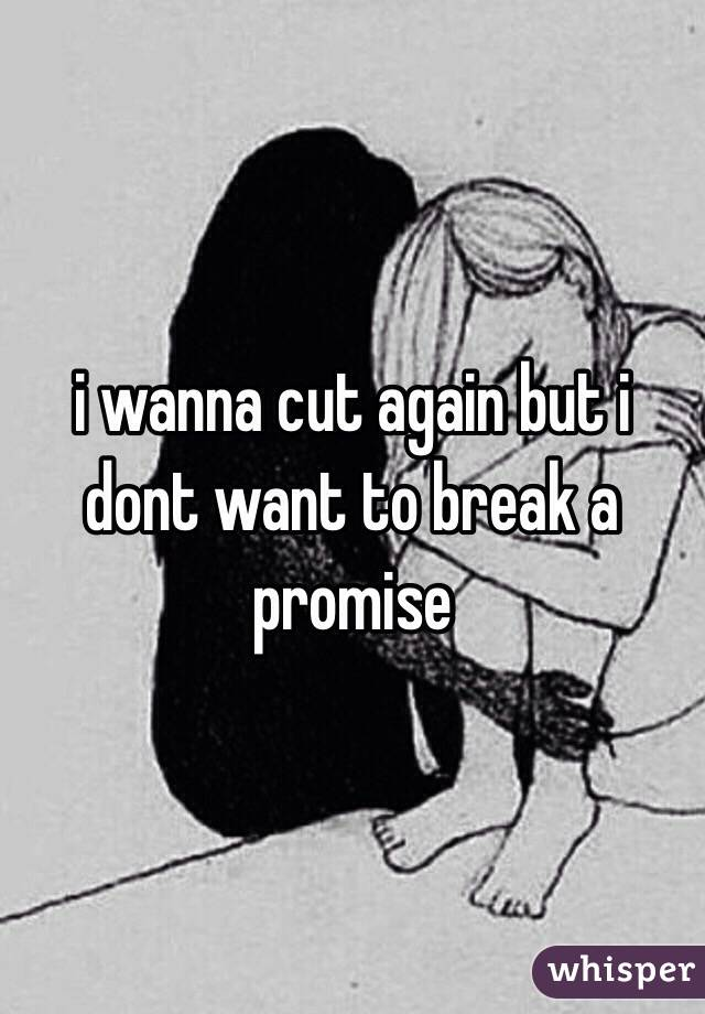 i wanna cut again but i dont want to break a promise