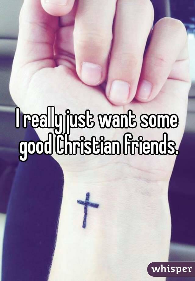 I really just want some good Christian friends.