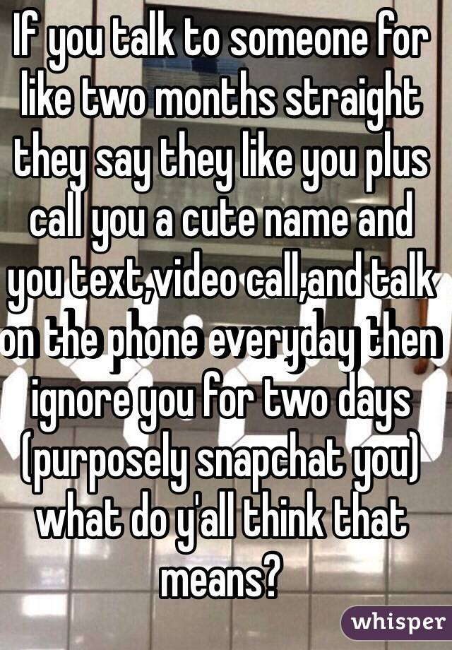 Someone Cute You To When Say What Calls