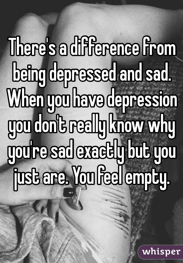 how to tell if you re depressed or just sad
