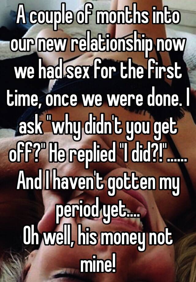 First time sex in new relationship