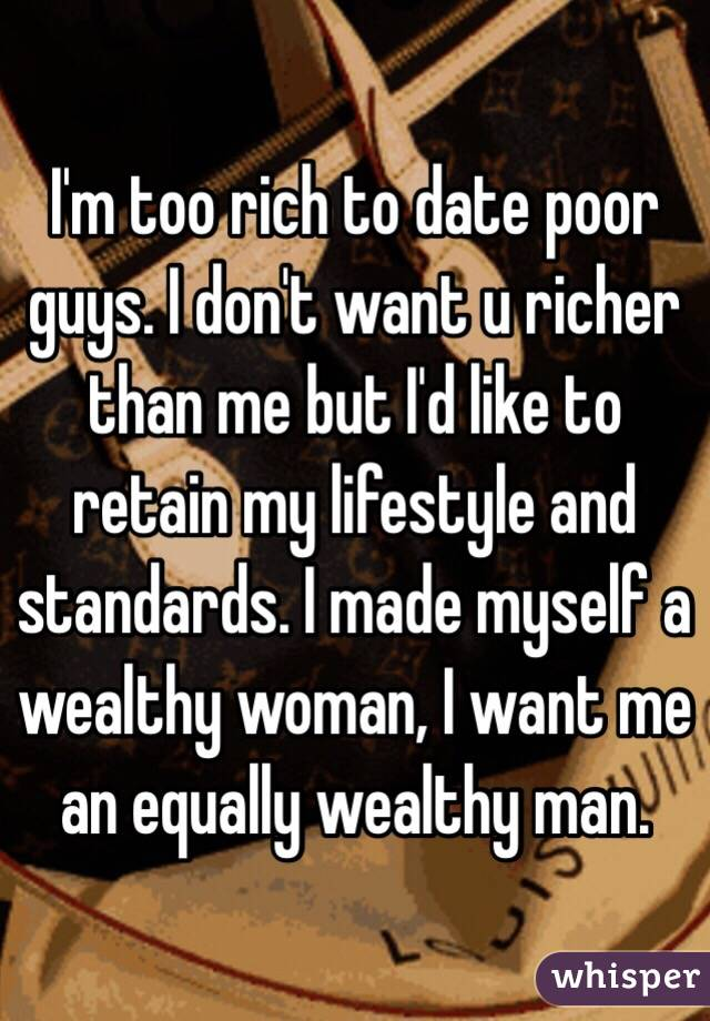 dont date a poor man
