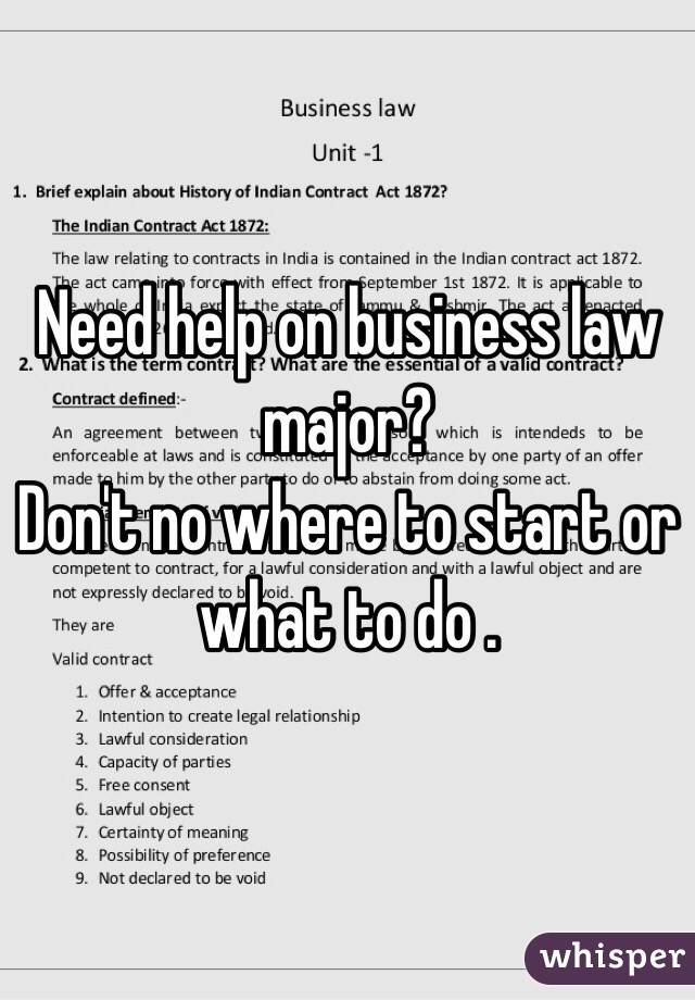 valid contract in business law