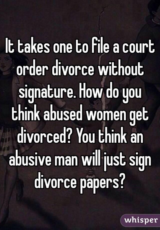 Divorce without signature
