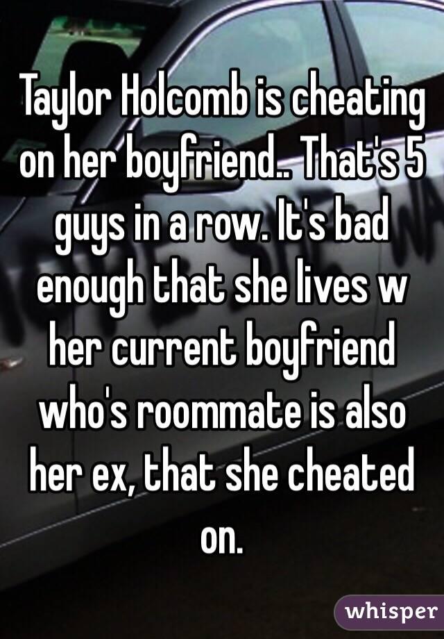 she cheated on her boyfriend