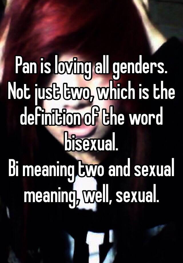 Meaning of bisexual quite