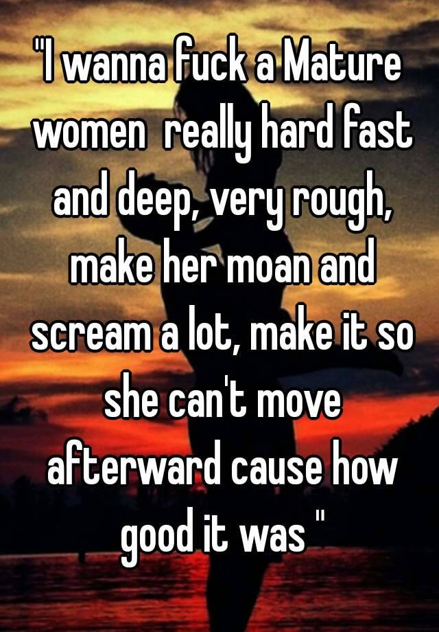 Fucking hard and fast