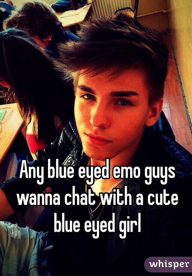 cute emo boys with blue eyes