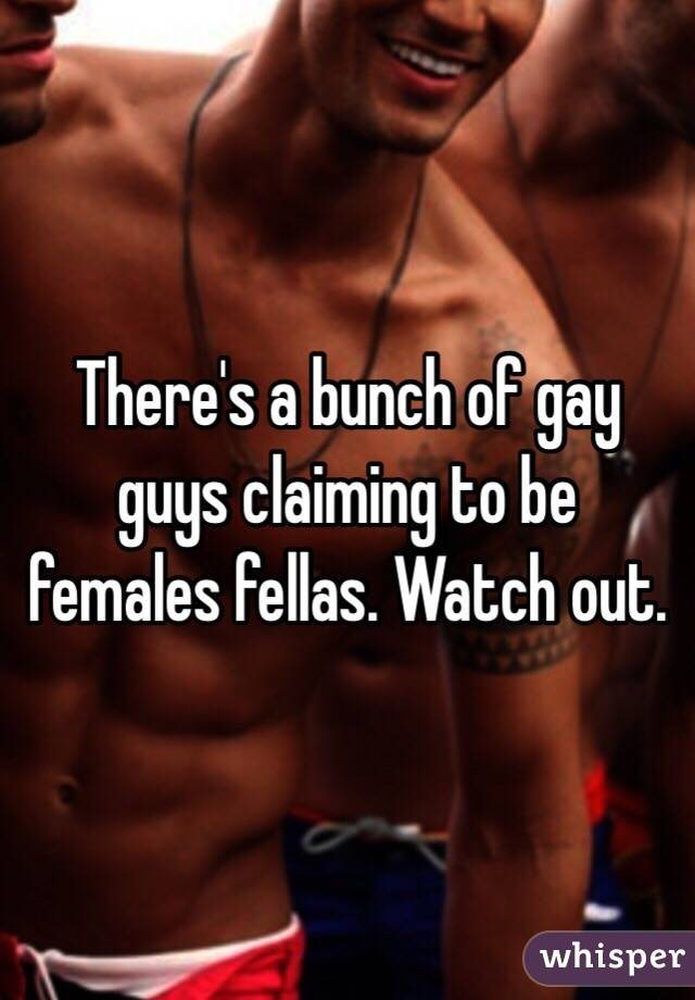 There's a bunch of gay guys claiming to be females fellas. Watch out.