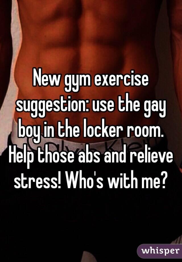Gay boy brought tied in men locker