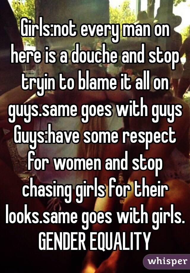 Stop chasing girls