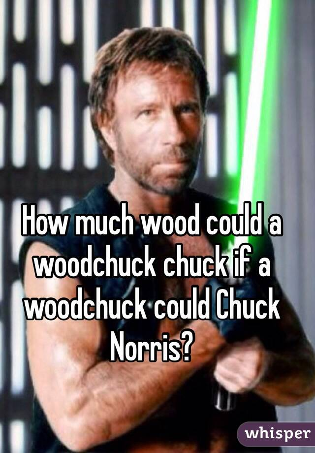 How Much Wood Could A Woodchuck Chuck Norris