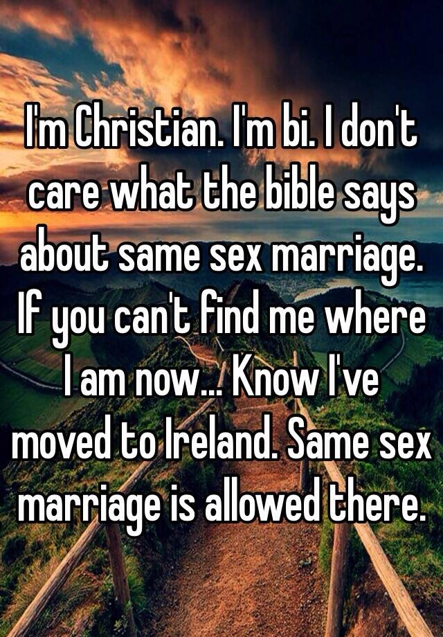 the biblical views on homosexuals and same sex marriage What does the bible say about homosexuality  christianity, particularly the christian view  but to argue for same-sex marriage on biblical.