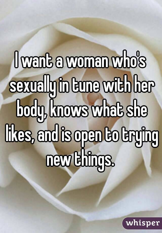 Trying new things sexually