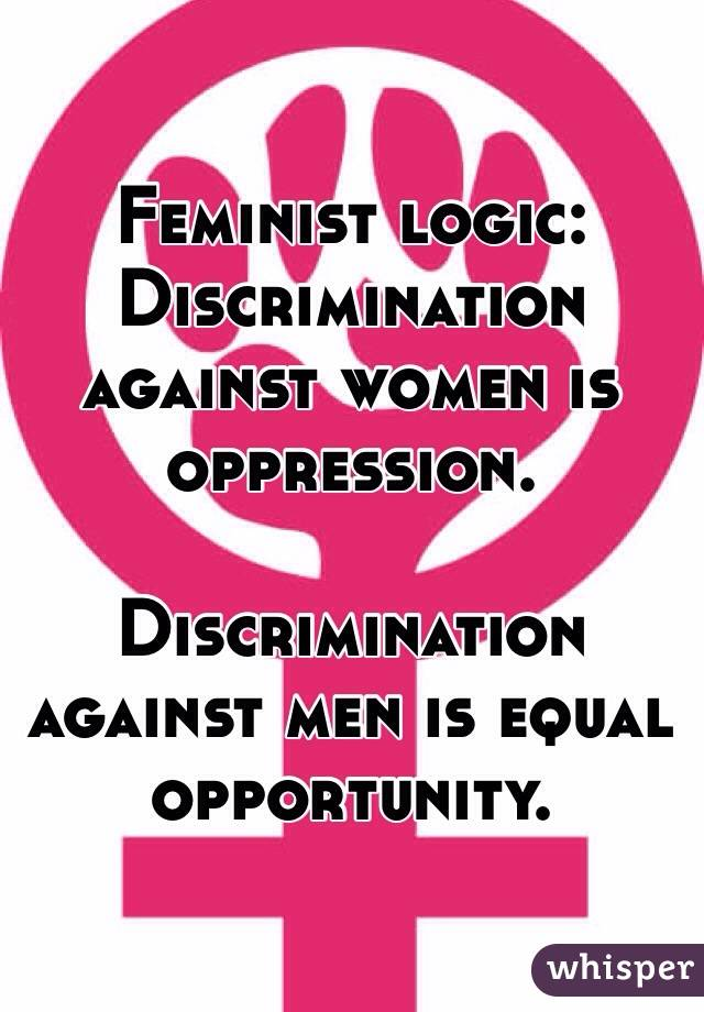 discrimination and men vs women essay Discrimination, is a barrier to women's career advancement examples of this less visible bias include a lack of mentoring, being ostracized from informal networks of communication, and an inhospitable cor.