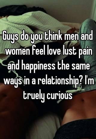 do men feel love