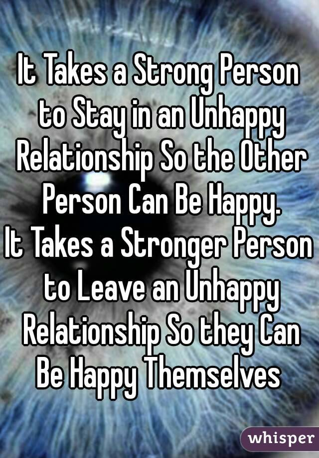 how to leave an unhappy relationship