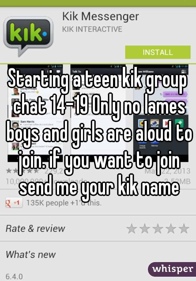 Kik names for boys