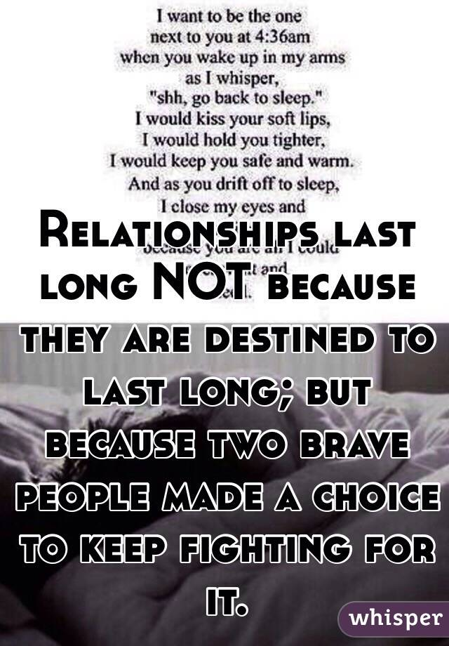 I want this relationship to last